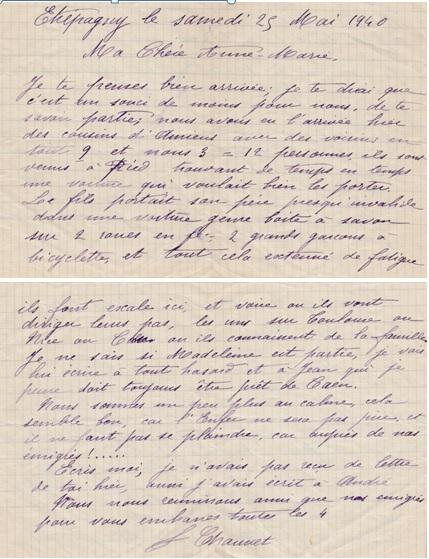 de Fanny Canivet à Anne-Marie Chauvet à Putteaux - 1940